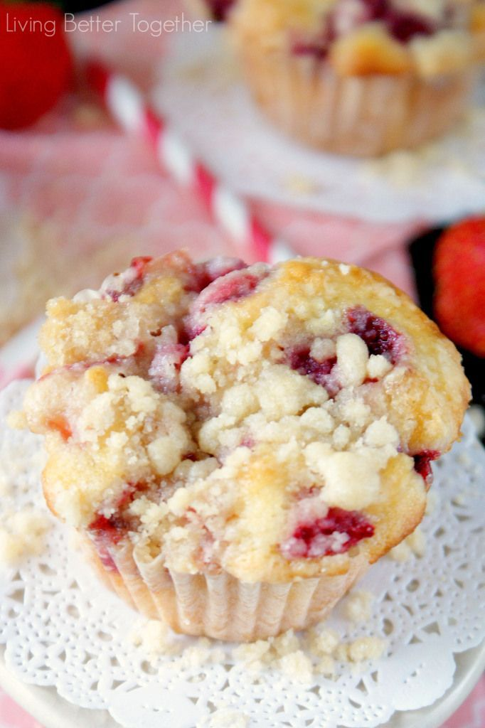 Strawberry Coffee Cake Muffins are made with sweet fresh berries and topped with a delicious crumble!