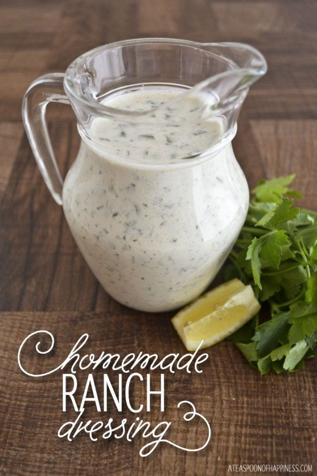 Healthy Copy Cat Ranch Dressing With Sour Cream Homemade Recipes Http Ranch Dressing Recipe Homemade Food Processor Recipes Salad Dressing Recipes Homemade