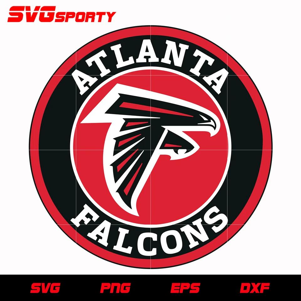 Atlanta Falcons Circle Logo Svg Nfl Svg Eps Dxf Png Digital File In 2020 Circle Logos Atlanta Falcons Svg Atlanta Falcons
