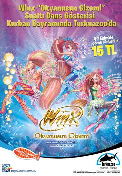 Nuevo espectáculo marino Winx Club El Misterio del Abismo en Turquía