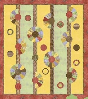 Free pattern for Dresden Plate quilt blocks with a smooth outer circle.These quilt blocks are also called Wagon Wheels