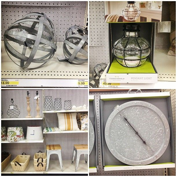 Targets Threshold line... pretty cool.  I think that pendant light needs to replace the ugly ones in my kitchen.