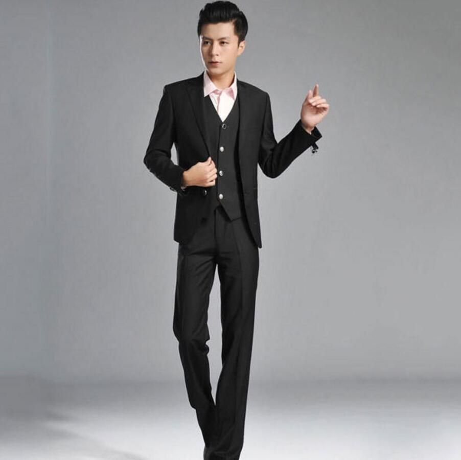 Custom Slim Fit men suit Casual fashion Style Tuxedo Men\'s Groom ...