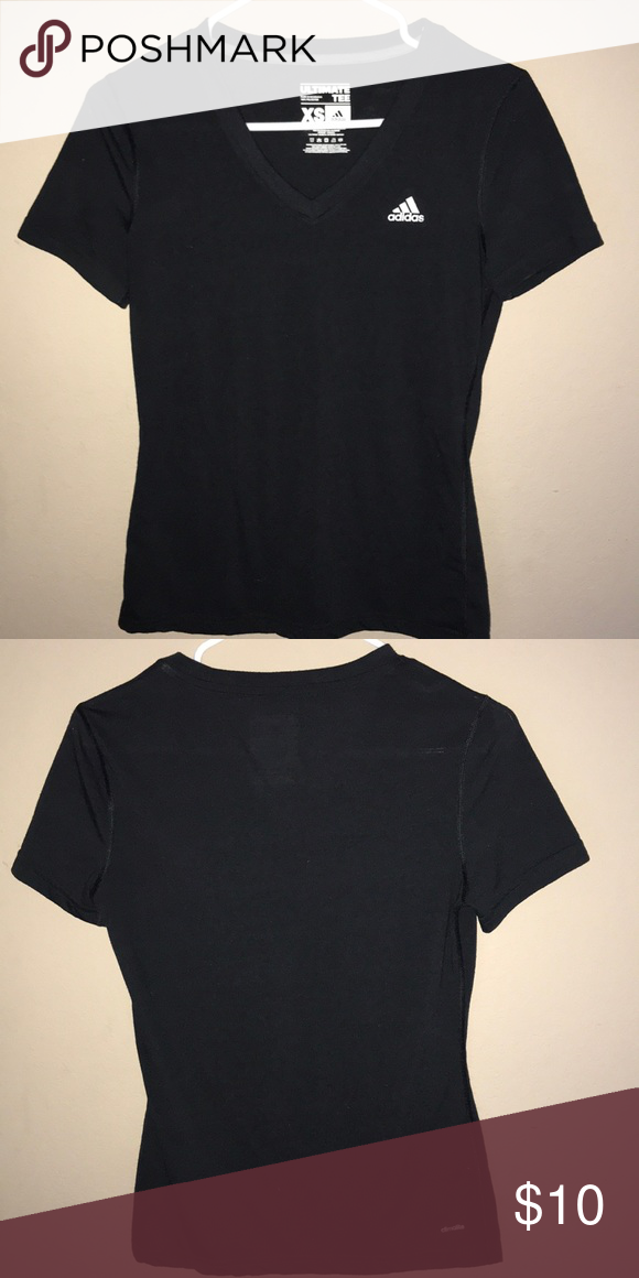 hot sale online 8fb15 23ec6 Ultimate Adidas Tee V neck black and white adidas tee in great condition adidas  Tops Tees - Short Sleeve