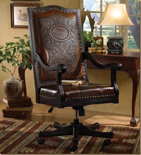Western Chic Oh So Savvy Rustic Home Offices Western