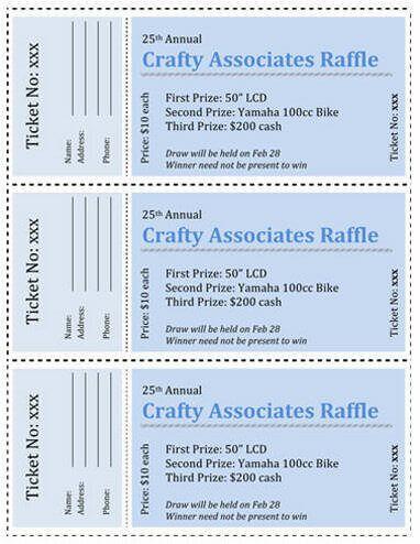 door prize ticket template