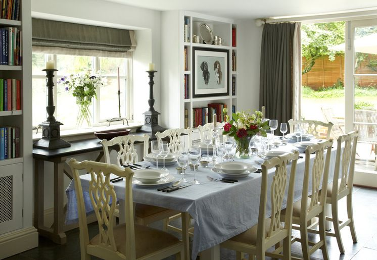 Country Dining Room by Stephanie Dunning Interior Design
