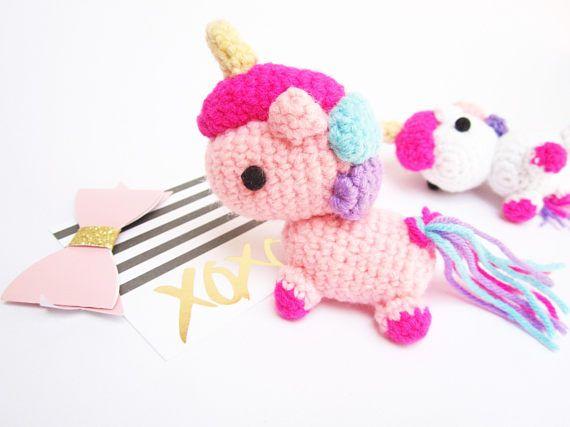 Amigurumi Unicorn : Amigurumi unicorn unicorn keychain unicorn plush kawaii