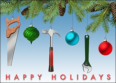 customize handyman holiday cards online ziti cards - Holiday Cards Online