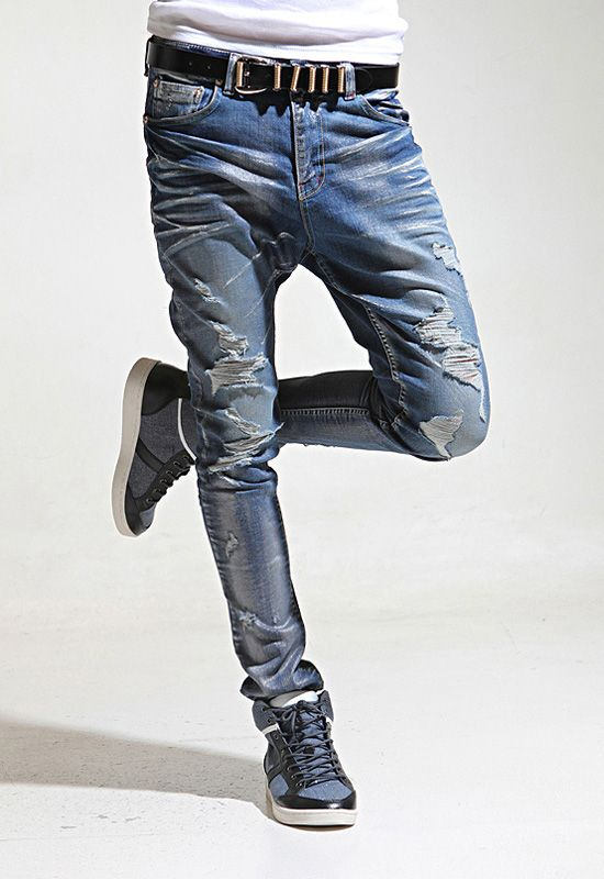 nyfashioncity-mens-baggy-skinny-jeans-cuffed-jeans-mens-denim ...