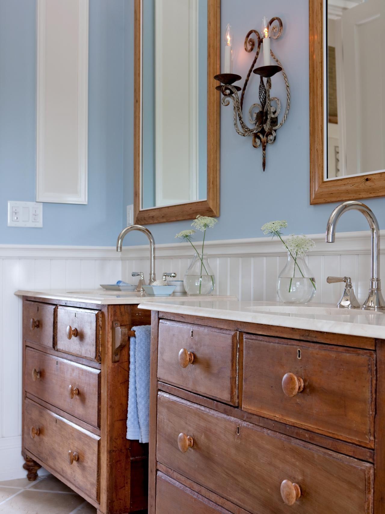 Dreamy Bathroom Vanities and Countertops Vintage Dressers Sarah
