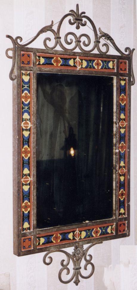 Spanish Tile Framed Mirror