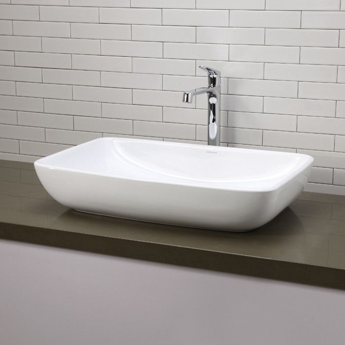 nice Wayfair Vessel Sinks Part - 11: Youu0027ll love the Vox Rectangle Vessel Above-Counter Bathroom Sink in White  at Wayfair - Great Deals on all Furniture products with Free Shipping on  most ...