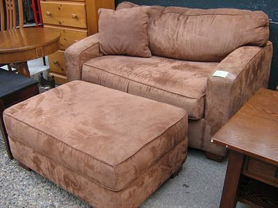 awesome tan microfiber overstuffed u0026 ottoman this big chair is also a pull