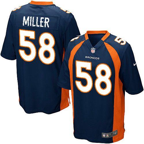 Nike Denver Broncos 58 Von Miller Navy Blue Alternate Nfl Jersey With Images Denver Broncos Jersey Von Miller Denver Broncos Von Miller