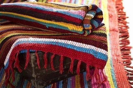 Fair Trade Handmade Recycled Rag Rug Large 6 X 4ft Amazon Co Uk 2015 2016 Cotton Rag Rug Rag Rug Handmade Rag Rug