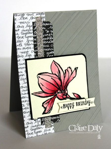 Remarkable You Stampin Up Birthday Card by Claire Daly at www.clairedaly.typepad.com