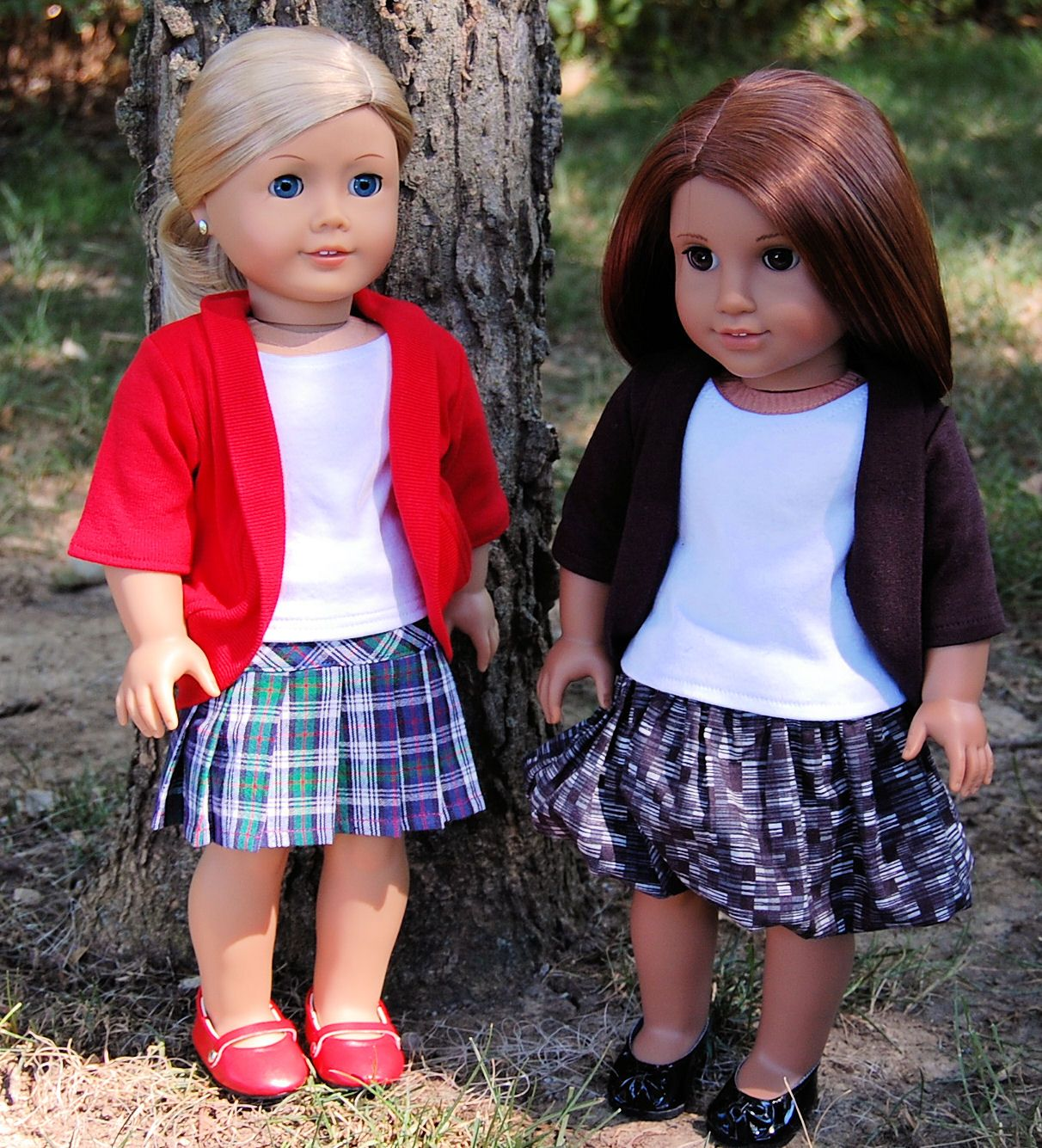 Sewing for American Girl Dolls: Back to school clothes for Kiki ...