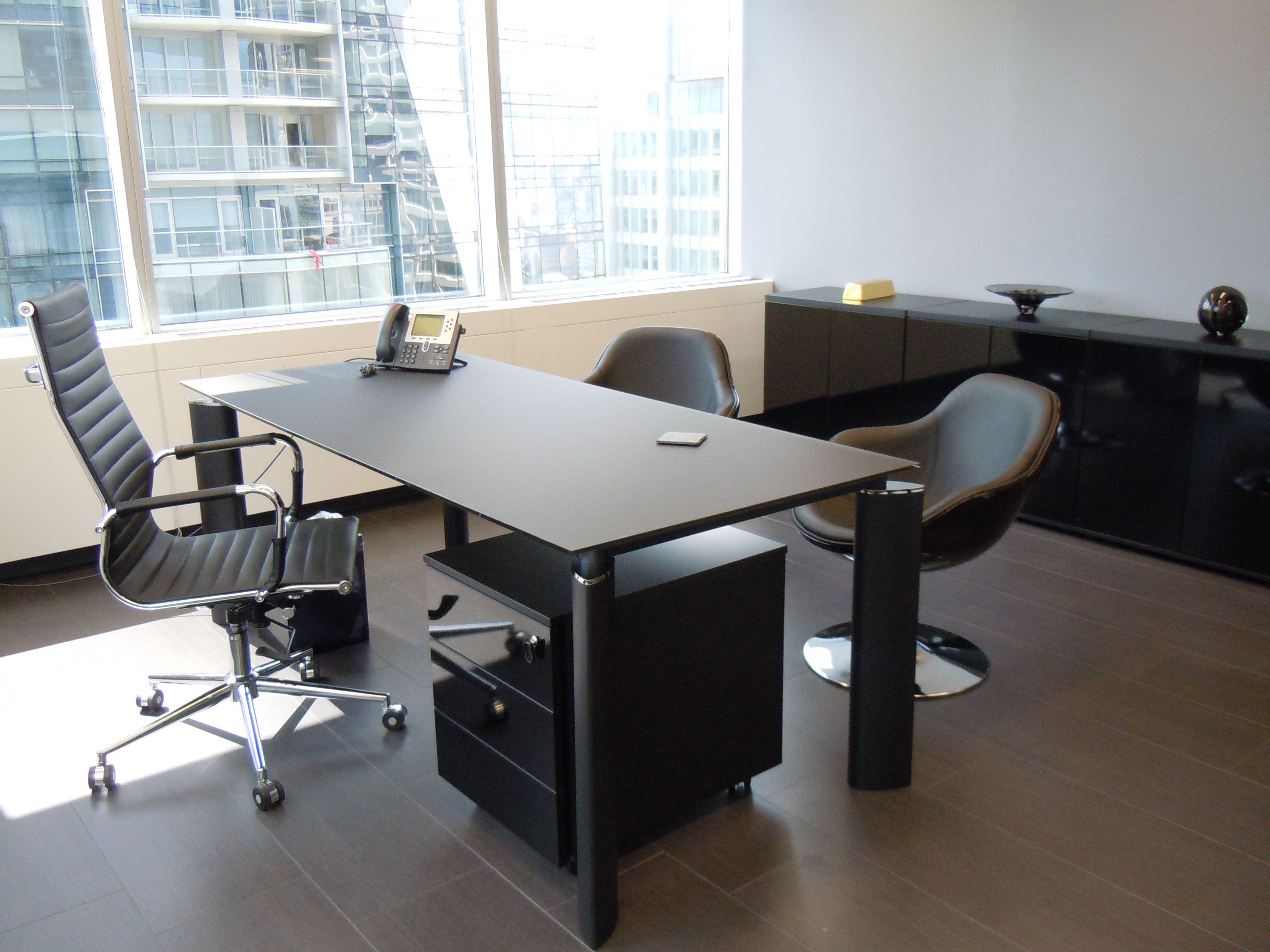 mod ofize black MDD crystal executive desk MDD crystal