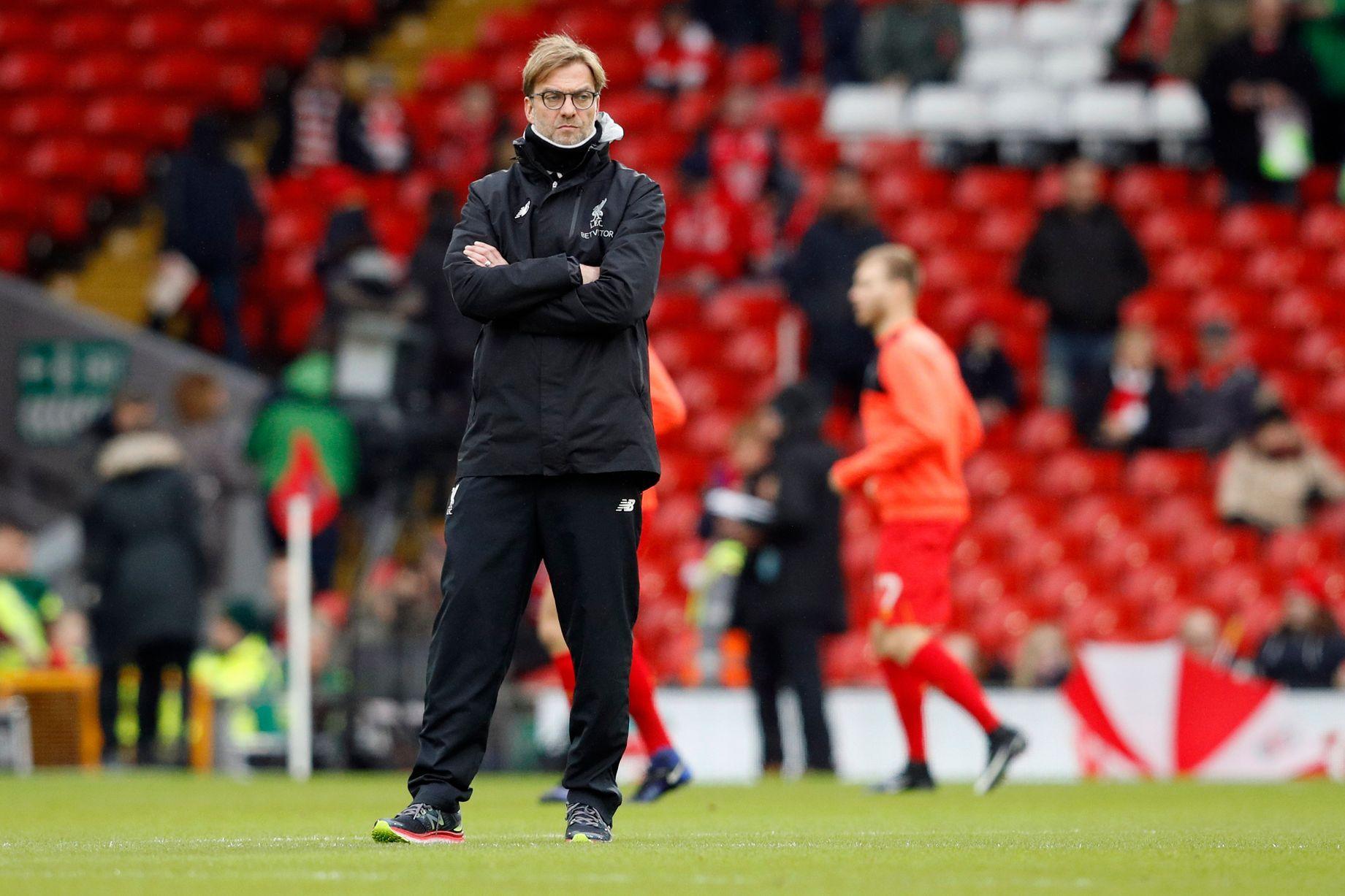 Liverpool manažér Jürgen Klopp pred zápasom