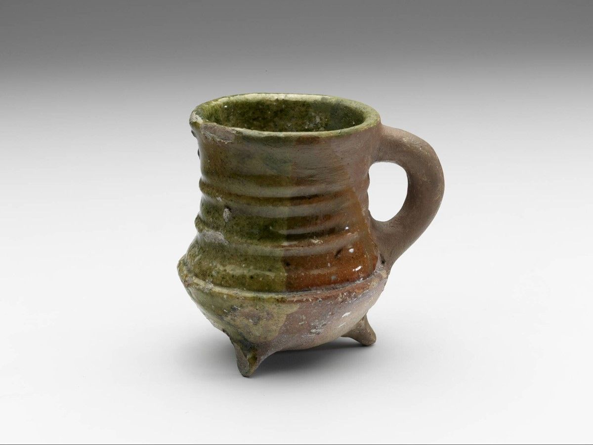 Pipkin 1500 1600 H 7 4 X W 8 5 Cm Lead Glaze Redware Europe Western Europe The Netherlands North Holland Ancient Pottery Ceramic Pottery Pottery