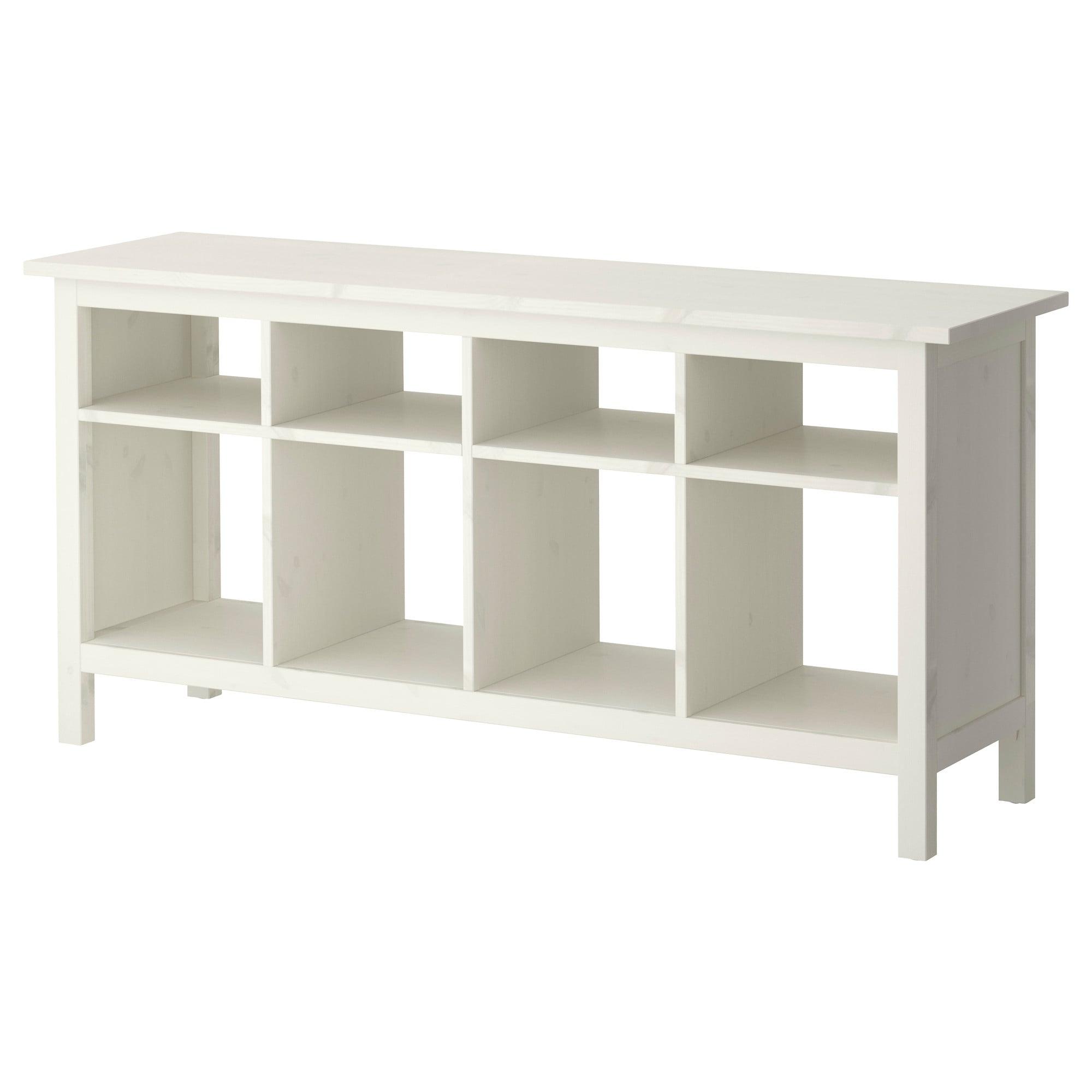 Hemnes Sidetable Wit Gebeitst 157x40 Cm Ikea Sofa Table Ikea Sofa Dining Storage