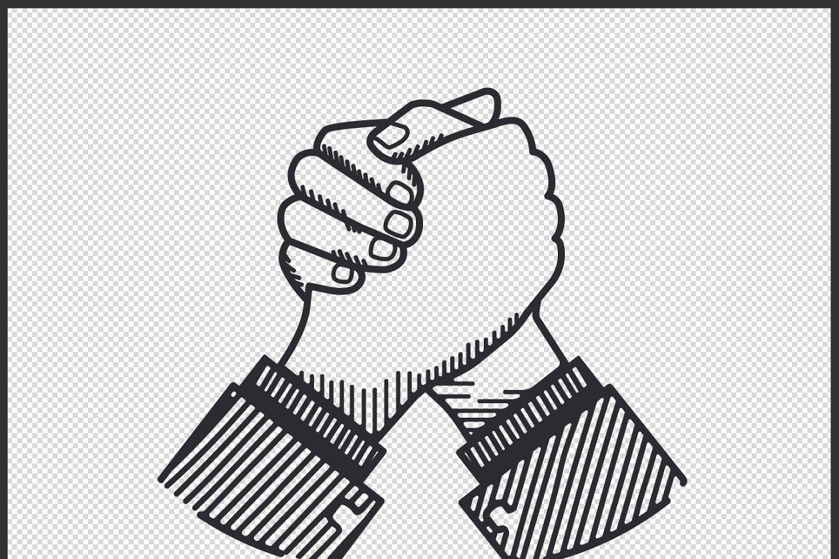 Business Handshaking Retro Vector Retro Vector Illustration Retro Vector Hand Logo