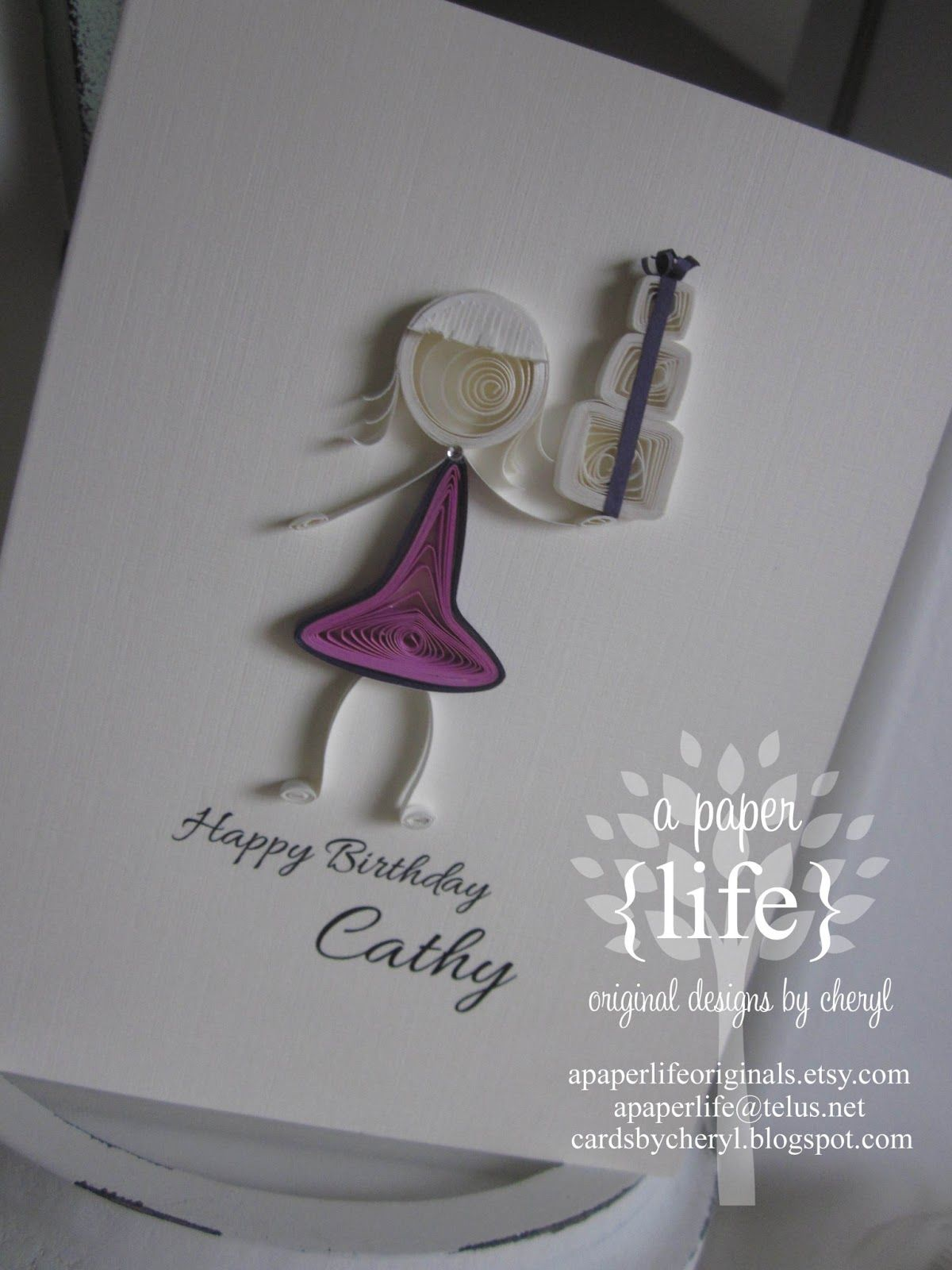 A Paper Life Quilled Girl And Presents Art Paper Pinterest