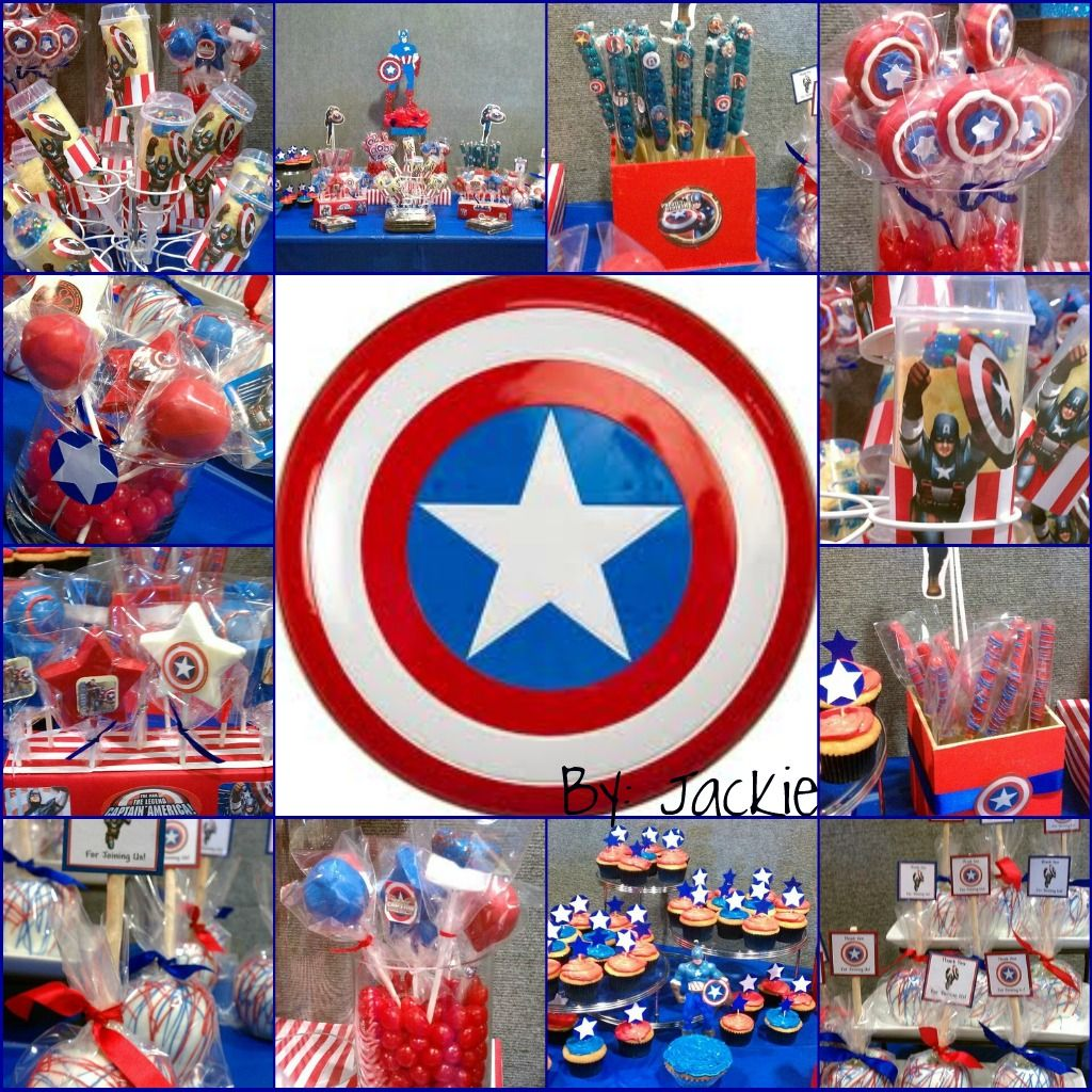 creations 4 you by jackie ideas para una fiesta pinterest birthdays and captain america. Black Bedroom Furniture Sets. Home Design Ideas