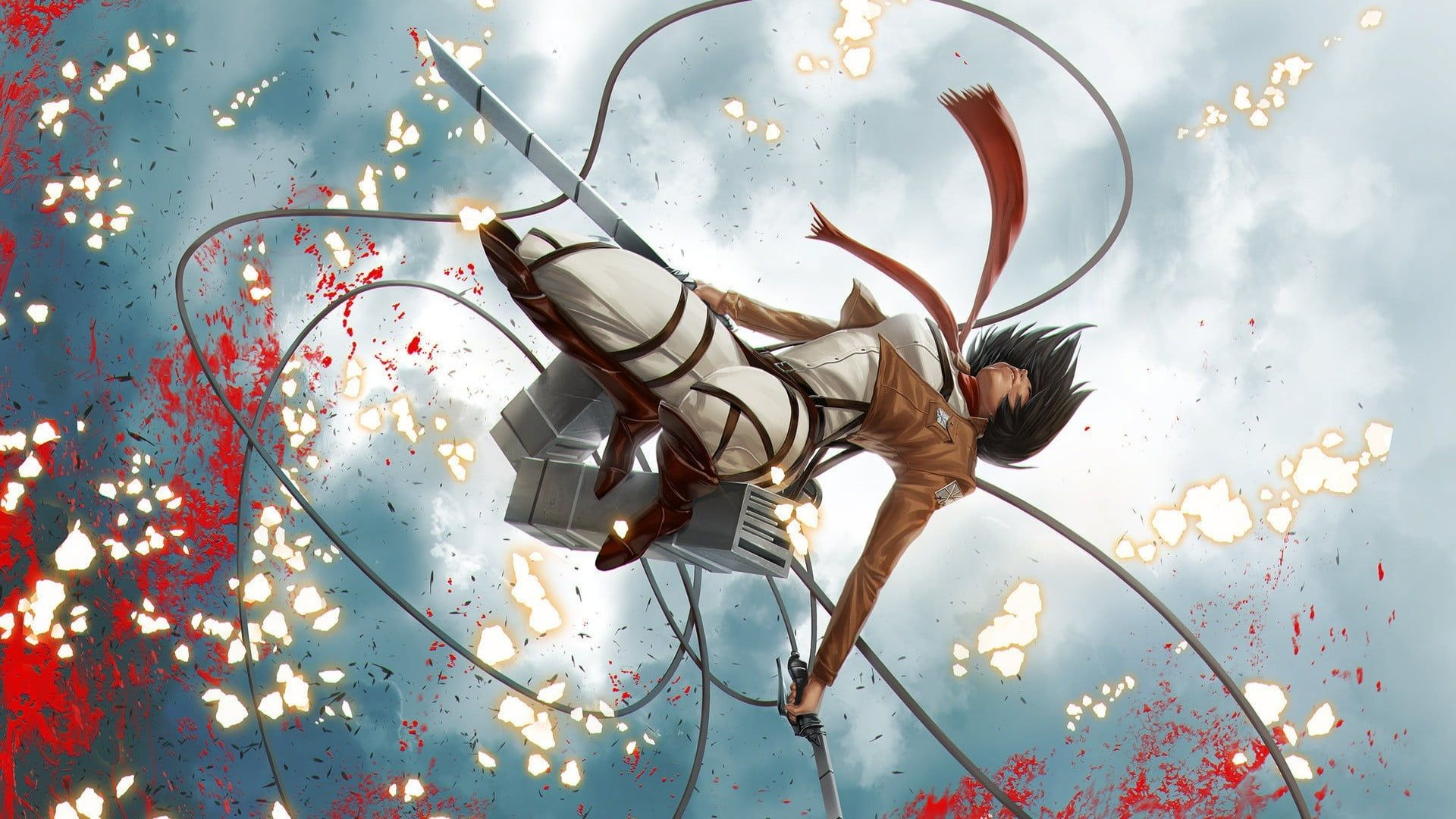 Attack On Titan Mikasa Wallpaper Shingeki No Kyojin Mikasa Ackerman Anime 1080p Wallpaper Hdwallpaper Attack On Titan Attack On Titan Anime Anime Wallpaper