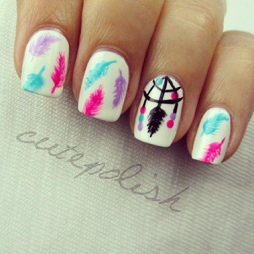 Dream catcher nail art