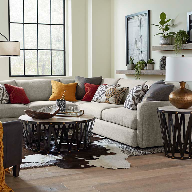 Allure Large L-Shaped Sectional (With images) | Living ...