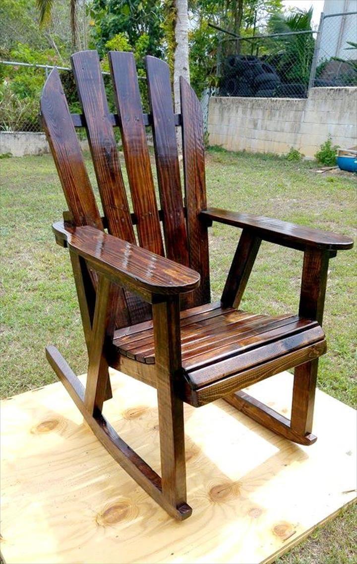 diy pallet rocking chair plans angel covers woodwork pinterest furniture 99 pallets