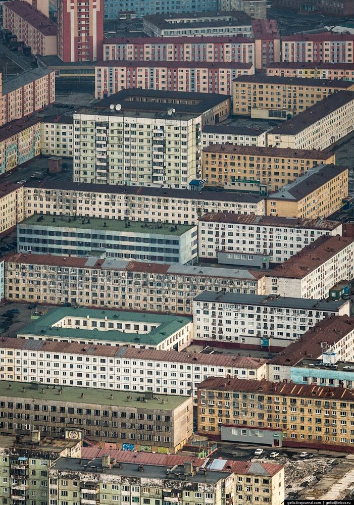 Russian city Norilsk photos from above Photography Pinterest