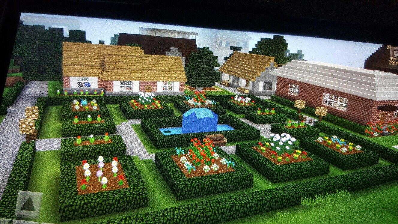 Minecraft garden | Minecraft garden, Minecraft decorations ...