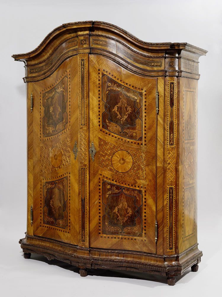 Armoire with inlays, mid 18th century.   SZAFY   Pinterest   Alte ...