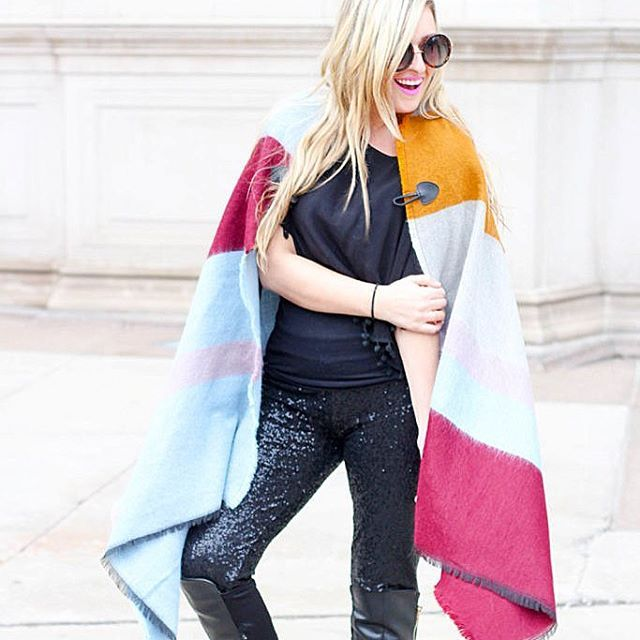this multi-color cape is under $15! It's the perfect accessory to hide under until winter is over! :snowman::snowflake: Who's with me?  @liketoknow.it www.liketk.it/255wU #liketkit #ltkunder50 #ltksalealert #poncho #charlottelook :came
