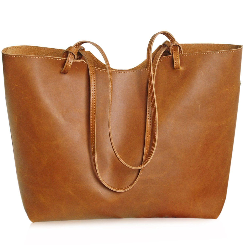 Jack&Chris®Fashion Women Ladies' Genuine Leather Tote   Bags ...