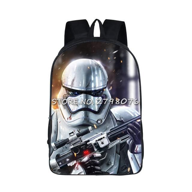 Children 3D Star Wars Backpack Male Bag Student School Bag Stromtroopers Printing  Backpack for Teenagers Boys Girls Laptop Bags 512b8ac34d