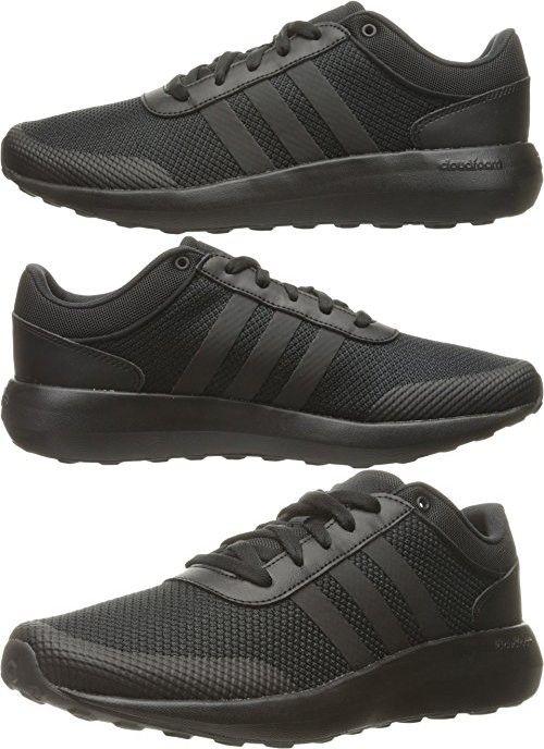 Adidas NEO Men\u0027s Cloudfoam Race Running Shoe, Black/Black/Black, ...