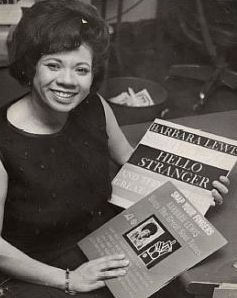 Barbara Lewis with her 'Hello Stranger' album in the 1960s ...
