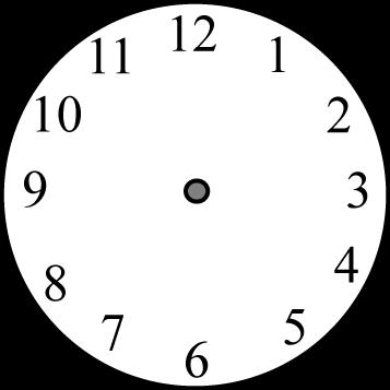 Clock Hands Clip Art Clipart Best Blank Clock Blank Clock Faces Clock Face Printable