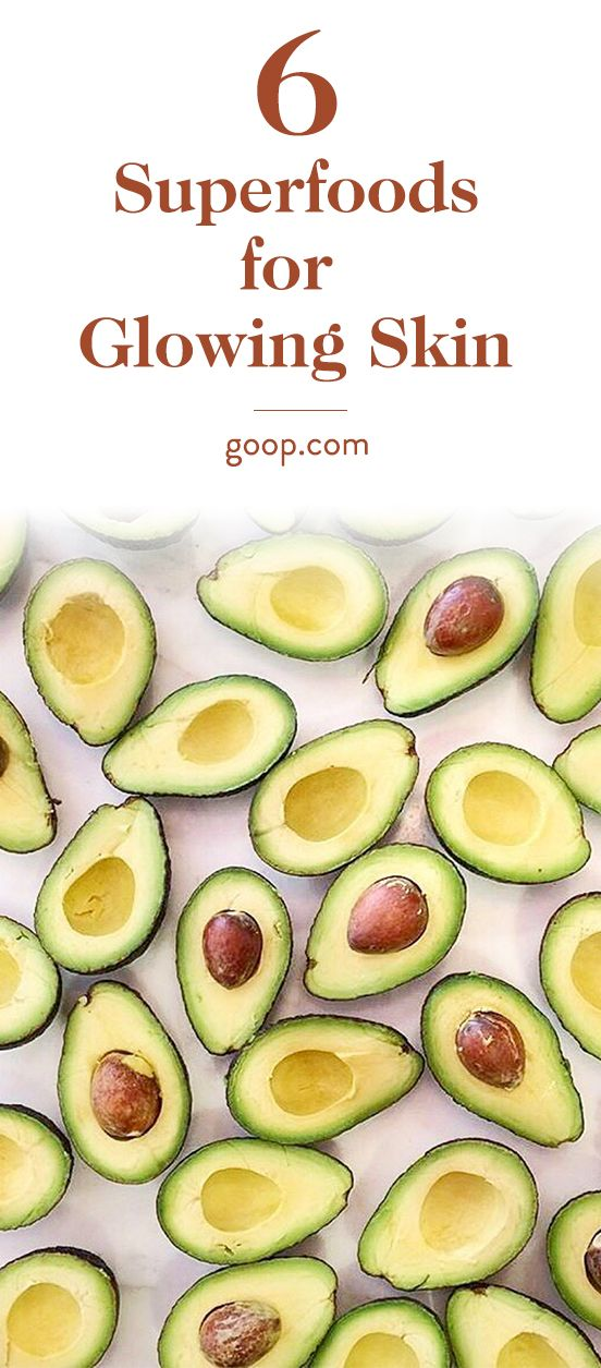 Superfoods for Glowing Skin Foods for healthy skin, Food