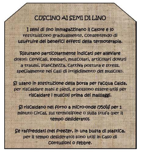 Briciole E Puntini Live Handmade Cuscino Ai Semi Di Lino Http Briciolepuntini Blogspot It 2009 11 Cuscino Ai Semi Di Lino Fabric Crafts Personalized Items