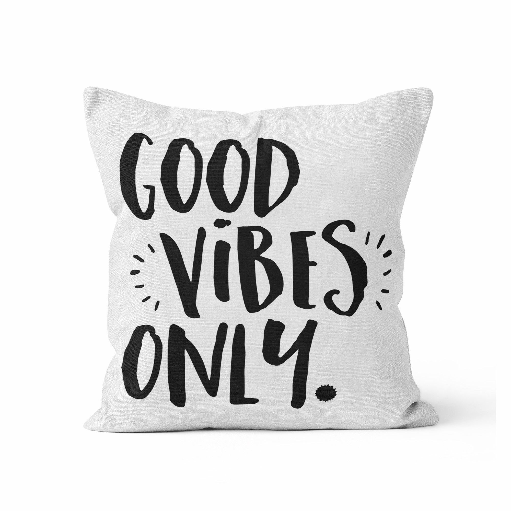 Throw pillow cover good vibes woptional insert bedroom ideas