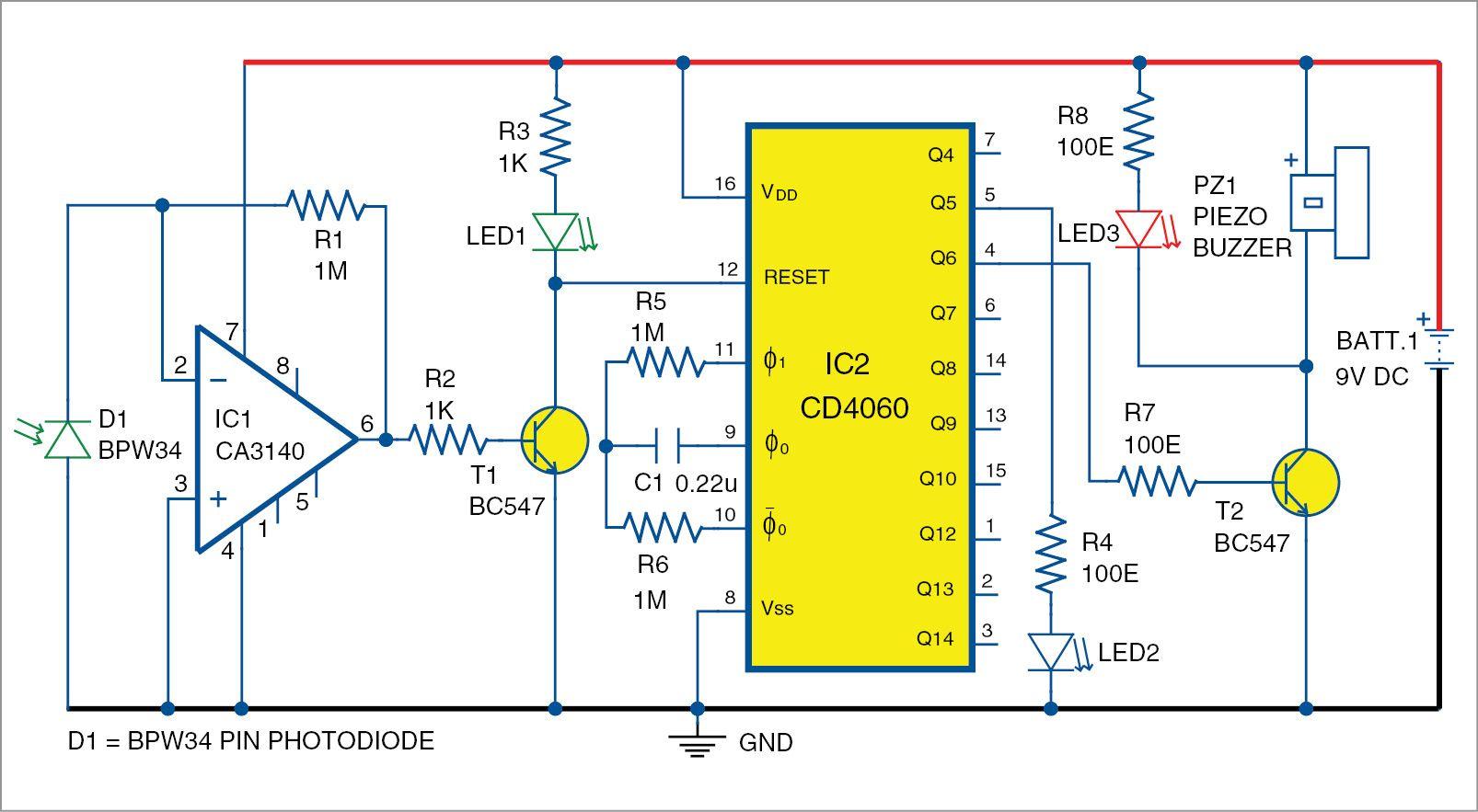 pin diode based fire sensor [ 1606 x 883 Pixel ]