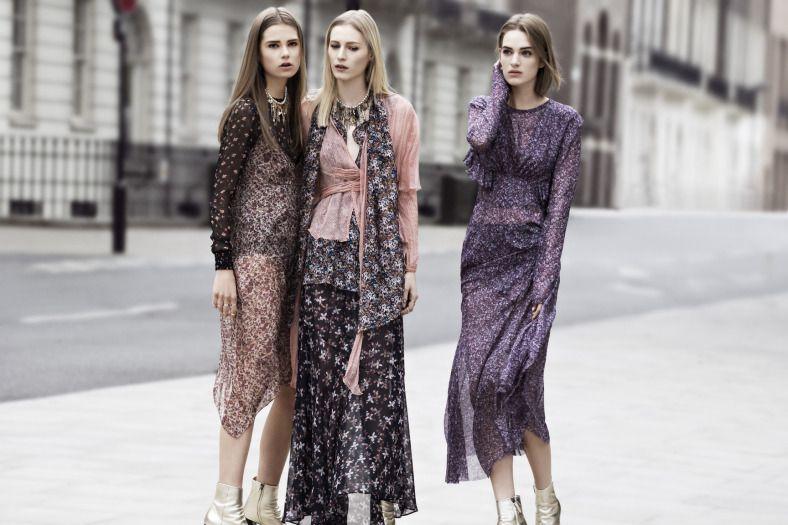 Zara Campaign FW 2013-2014 /// Tecidos Focus: Chiffon Span Printed; Hi Multi Chiffon Printed; Transparência Flow Printed #TRANSPARENCIAS #florais