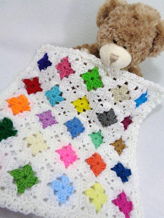 Dollhouse Quilt, Doll Bed Quilt, Crochet Teddy Bear Afghan ...