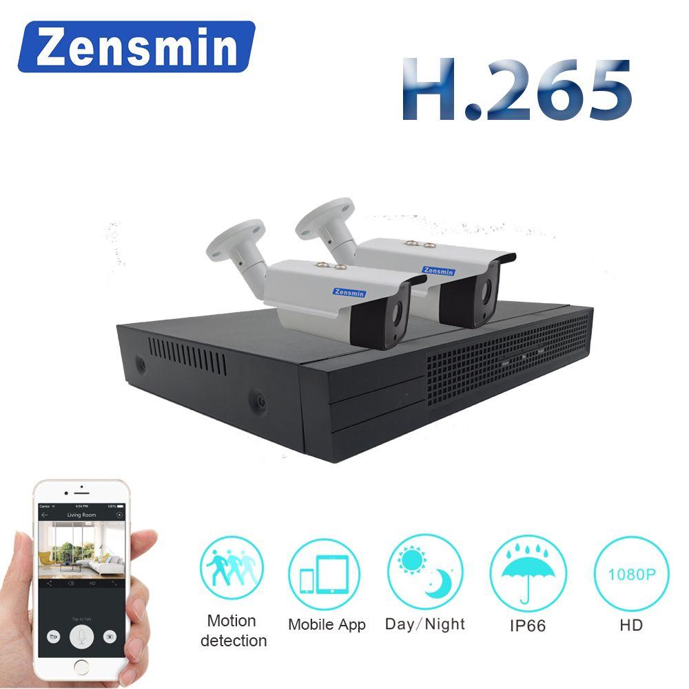 Zensmin 4CH 1080P HDMI NVR Kit POE CCTV Camera System 2MP