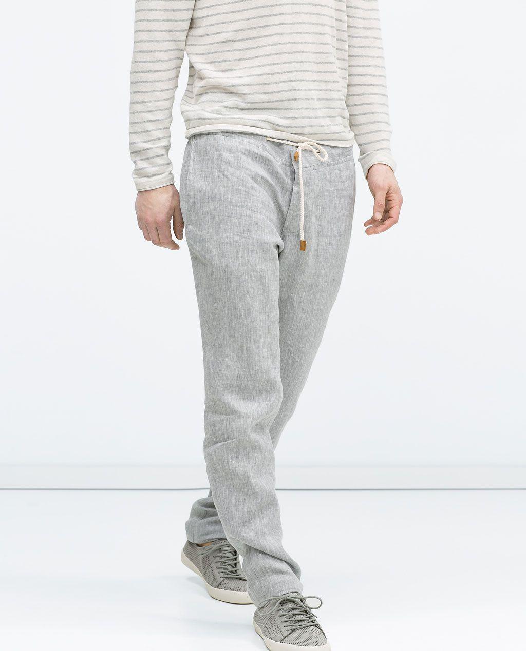 ZaraMariage Lin Cordon Moman 3 Image Pantalon De Men Popa PiXZTOku